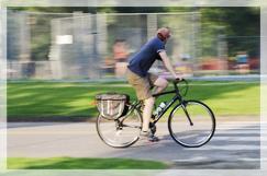 自転車に激突された事例